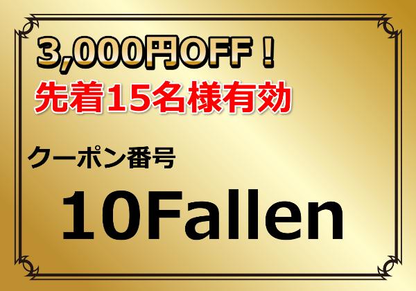 クーポン番号:10Fallen